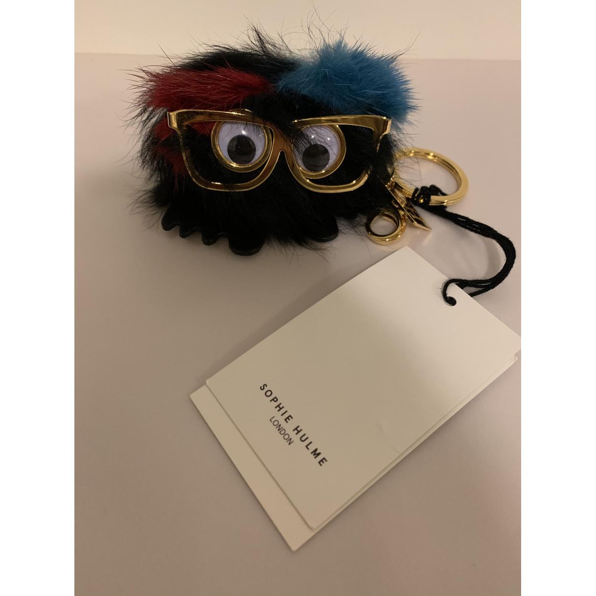 Sophie Hulme N Black Mink Bag charms for Women N
