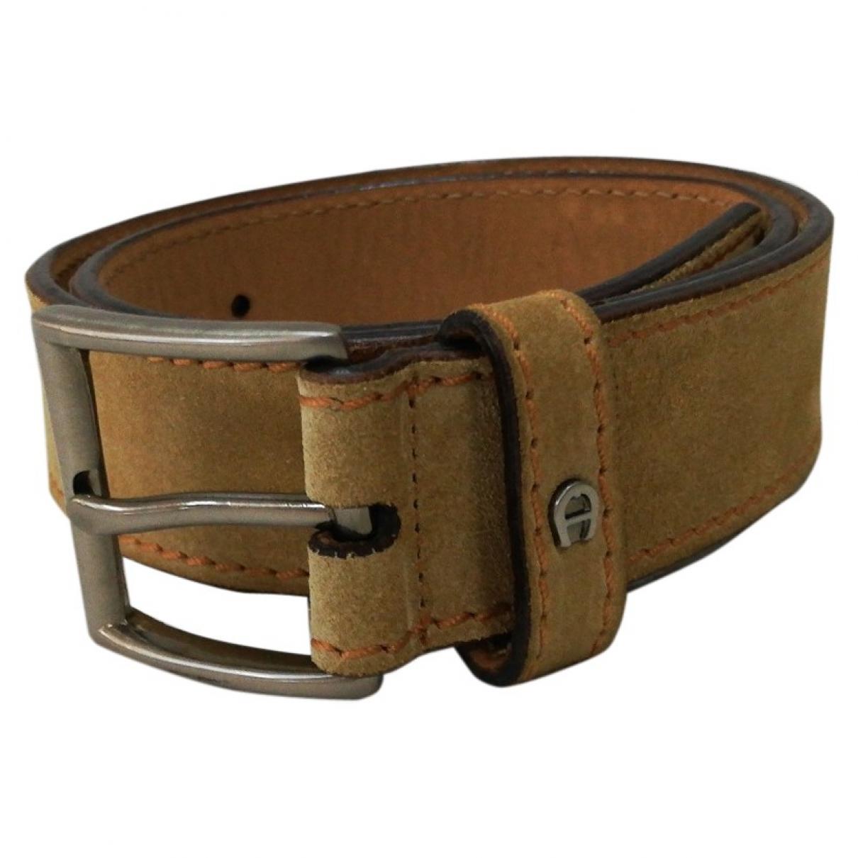 Aigner \N Beige Suede belt for Women 70 cm