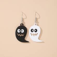 Halloween Ghost Charm Drop Earrings
