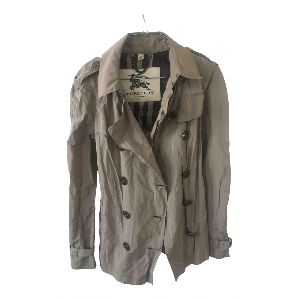 Burberry \N Metallic Leather jacket for Women 36 FR