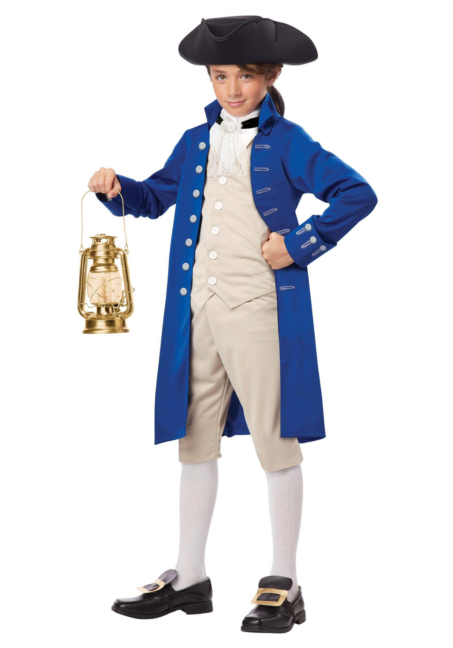 Paul Revere Boys Costume