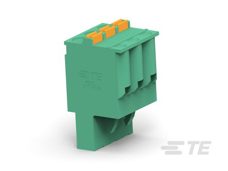 TE Connectivity 5mm Pitch, 5 Way PCB Terminal Block, Green (150)