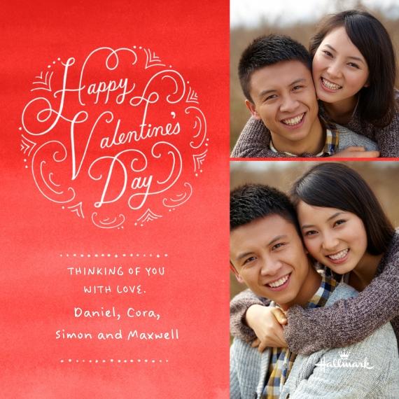 Valentine's Cards 5x5 Flat Card Set, 85lb, Card & Stationery -Sophisticated Valentine