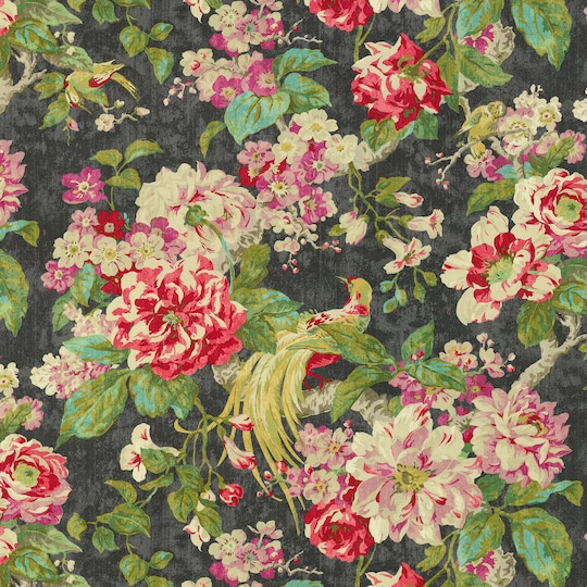 Waverly Floral Engagement Nightfall Home Décor Fabric   Michaels®