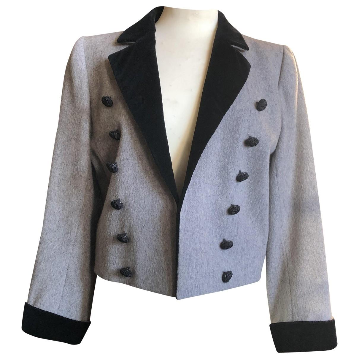 Yves Saint Laurent \N Grey Velvet jacket for Women 42 FR