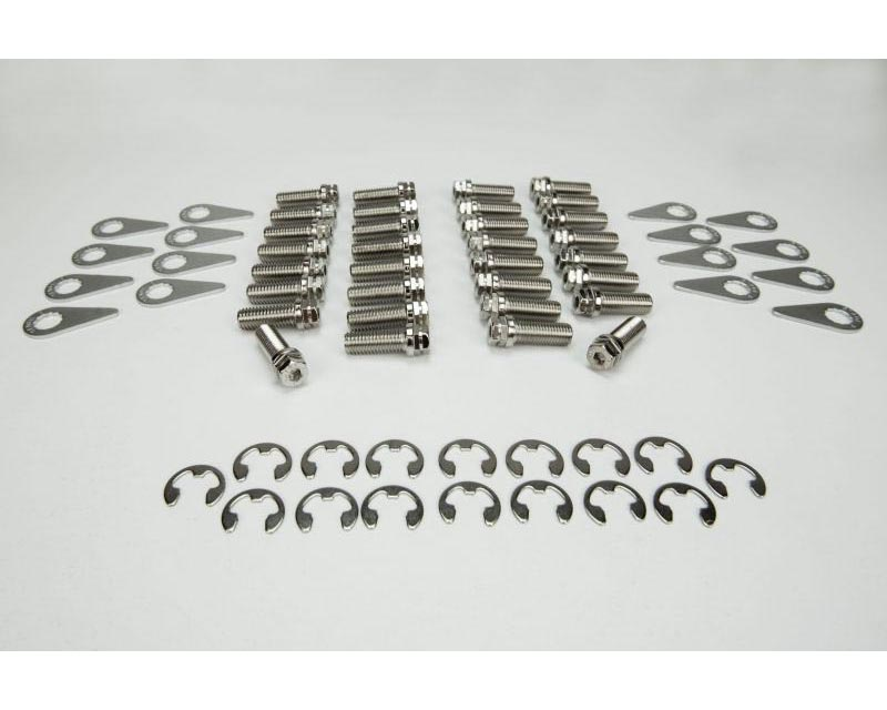 Kooks BK105 Stage 8 Header Bolt Kit - Bolts in Both Thread Sizes and Locking Hardware.