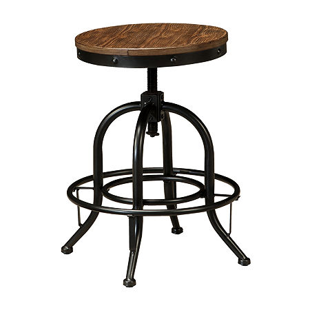 Signature Design by Ashley Pinnadel Set of 2 Counter Height Swivel Bar Stools, One Size , Brown