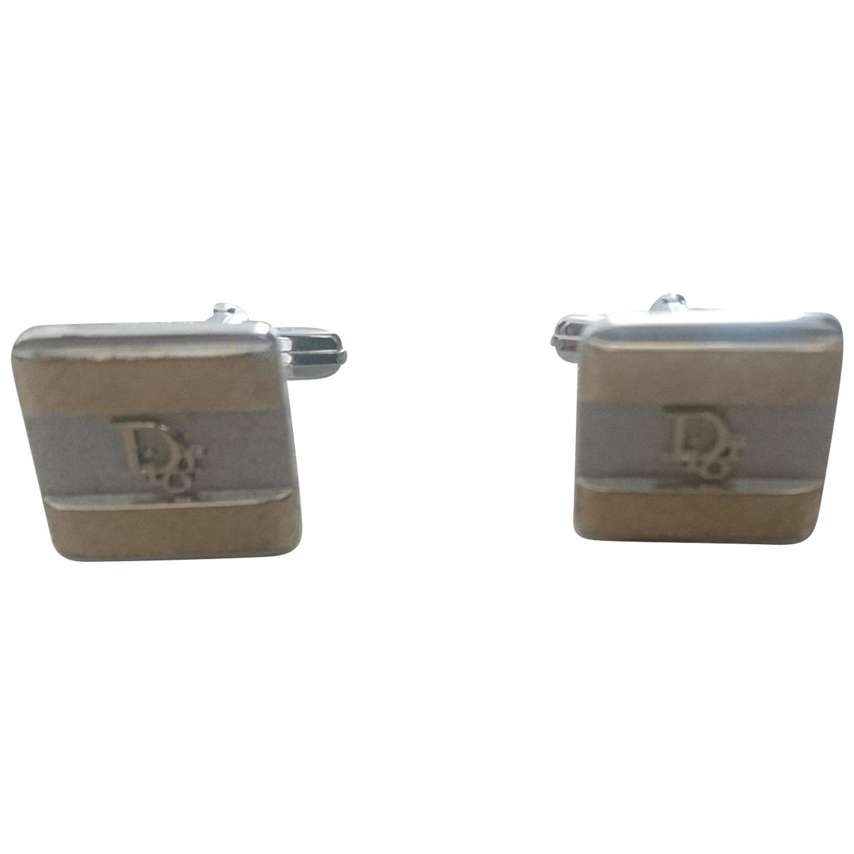 Dior \N Silver Silver Cufflinks for Men \N