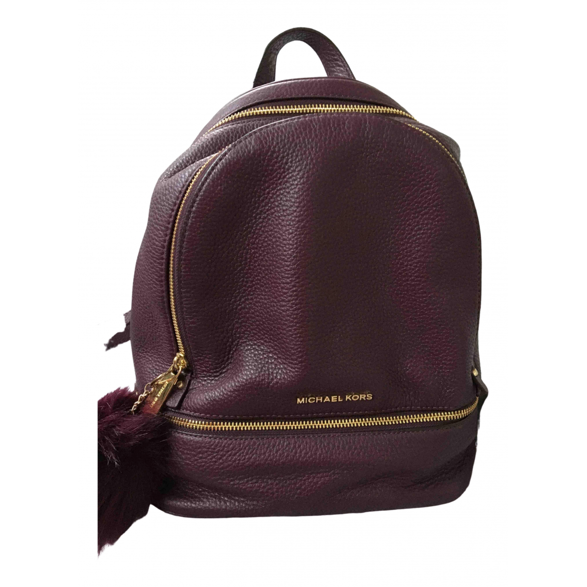 Michael Kors Rhea Purple Leather backpack for Women \N