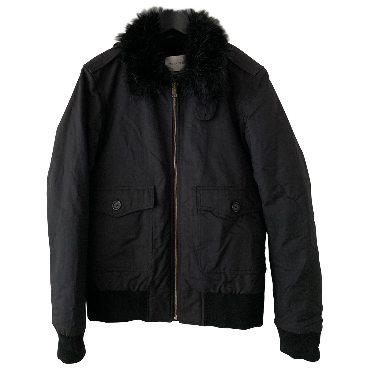 Yves Salomon \N Black Rabbit jacket for Women 38 IT