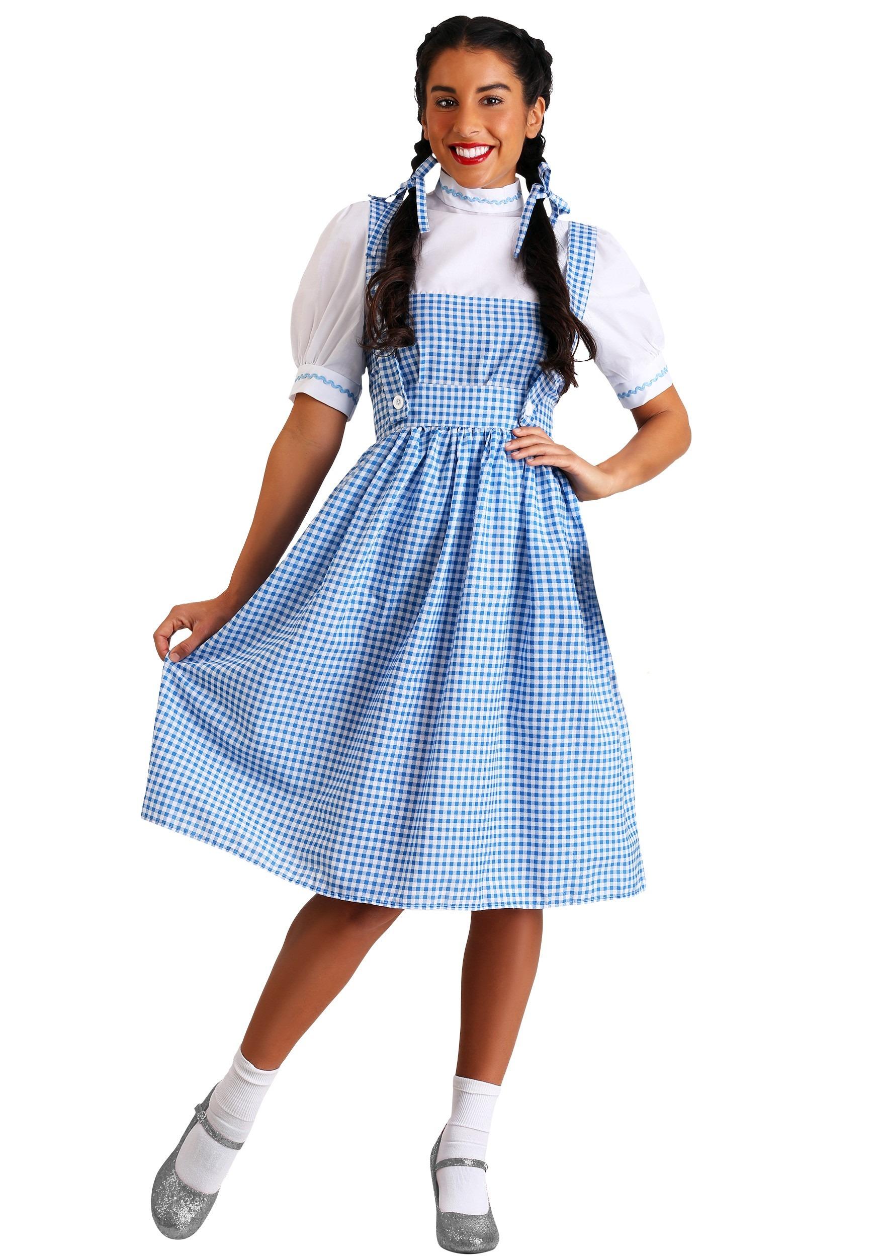 Women's Kansas Girl Long Dress Costume