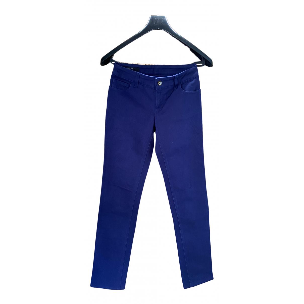 Gucci \N Blue Cotton - elasthane Jeans for Women 40 FR