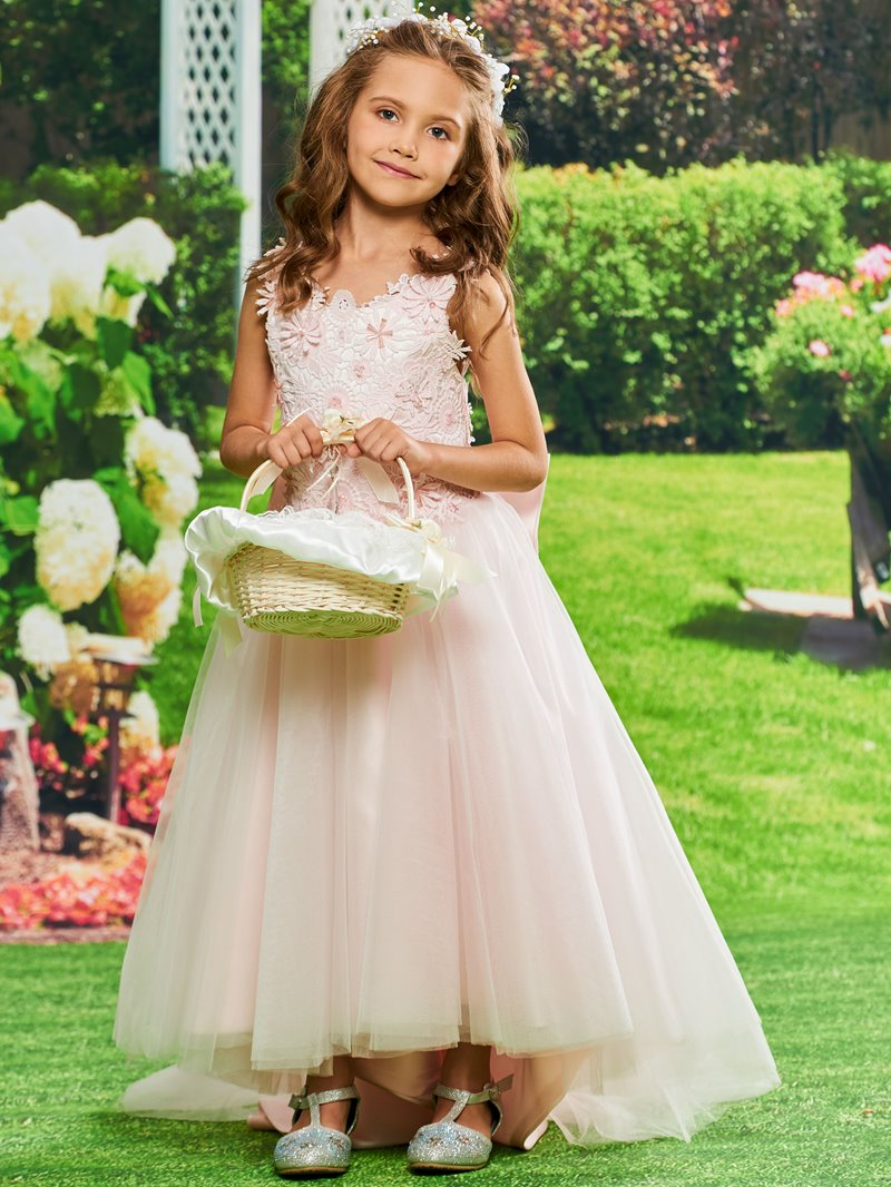 Ericdress Ball Gown Ankle-Length Lace Flower Girl Dress
