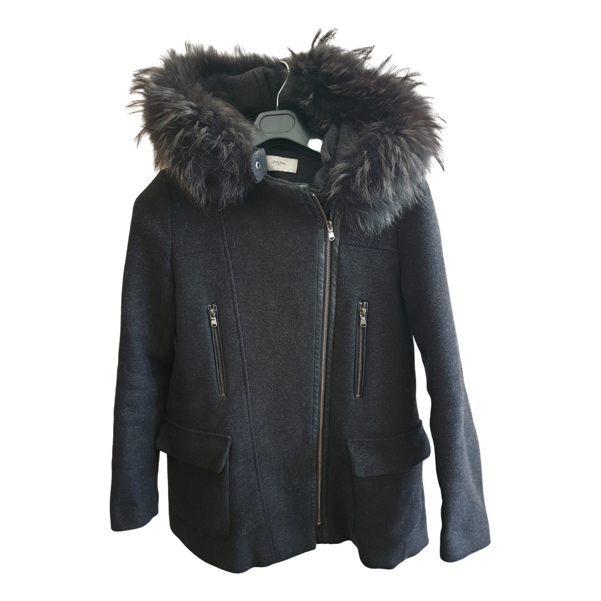 Zapa \N Anthracite Wool coat for Women 36 FR