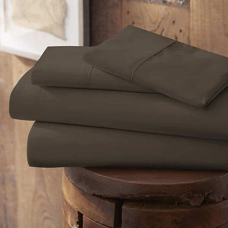 Casual Comfort Premium Ultra Soft Microfiber Wrinkle Free Sheet Set, One Size , Brown