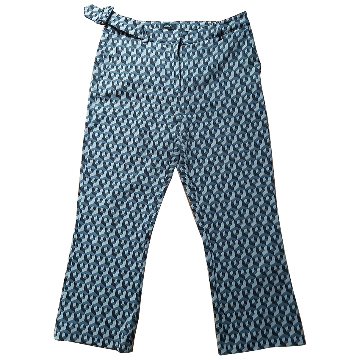 Max & Co \N Grey Cotton Trousers for Women 46 IT