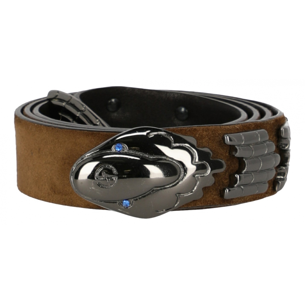 Giorgio Armani \N Brown Leather belt for Women 70 cm