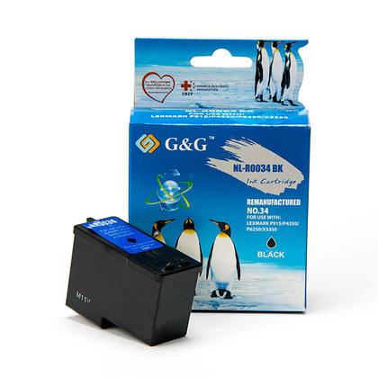 Lexmark 34 18C0034 cartouche d'encre remanufacturée noire haute capacité - G&G™