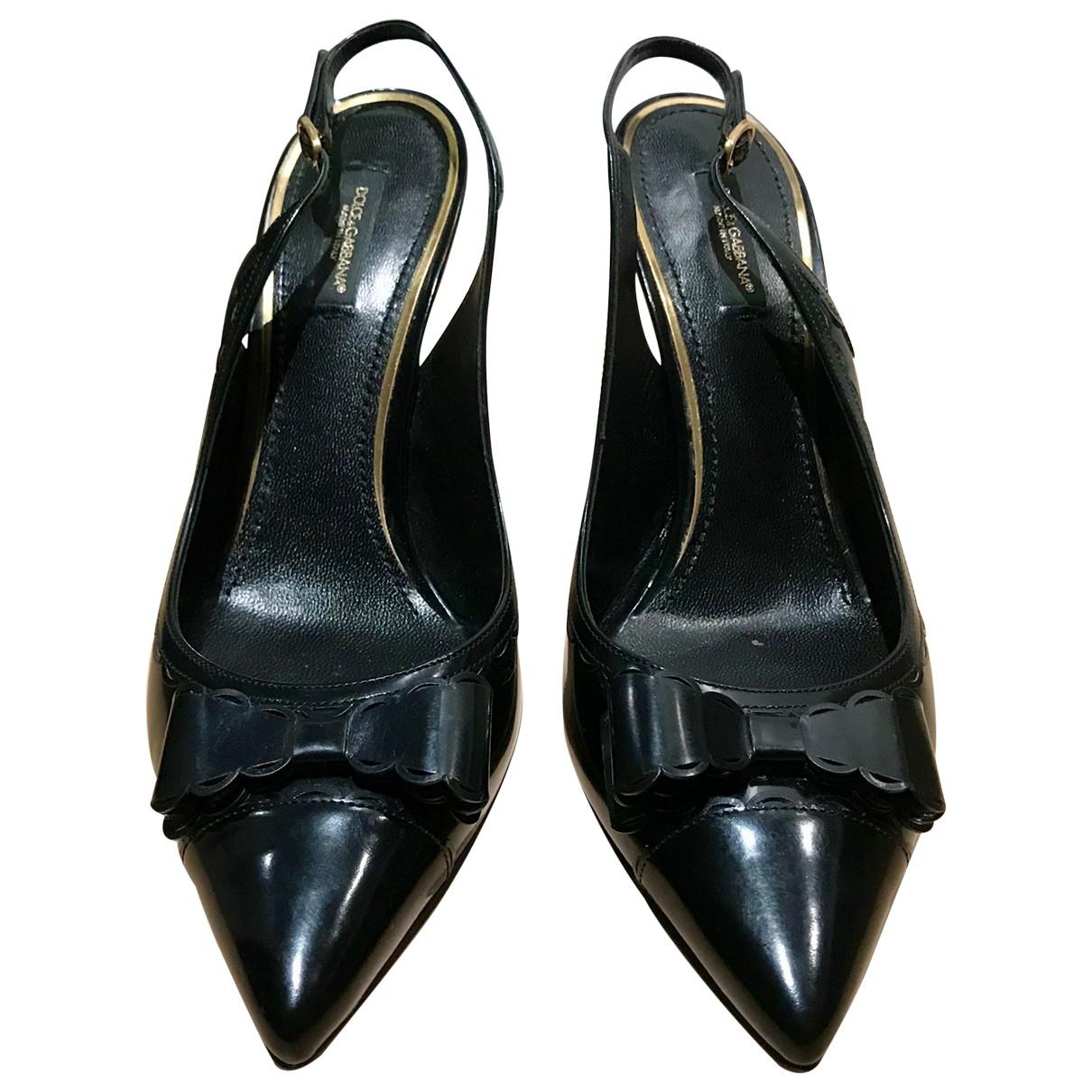Dolce & Gabbana \N Black Leather Heels for Women 39 IT