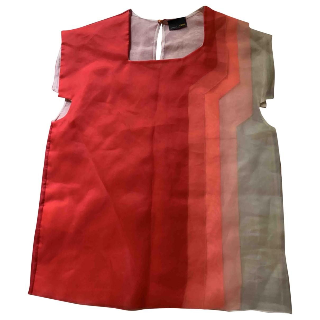 Fendi \N Red Silk  top for Women 40 IT