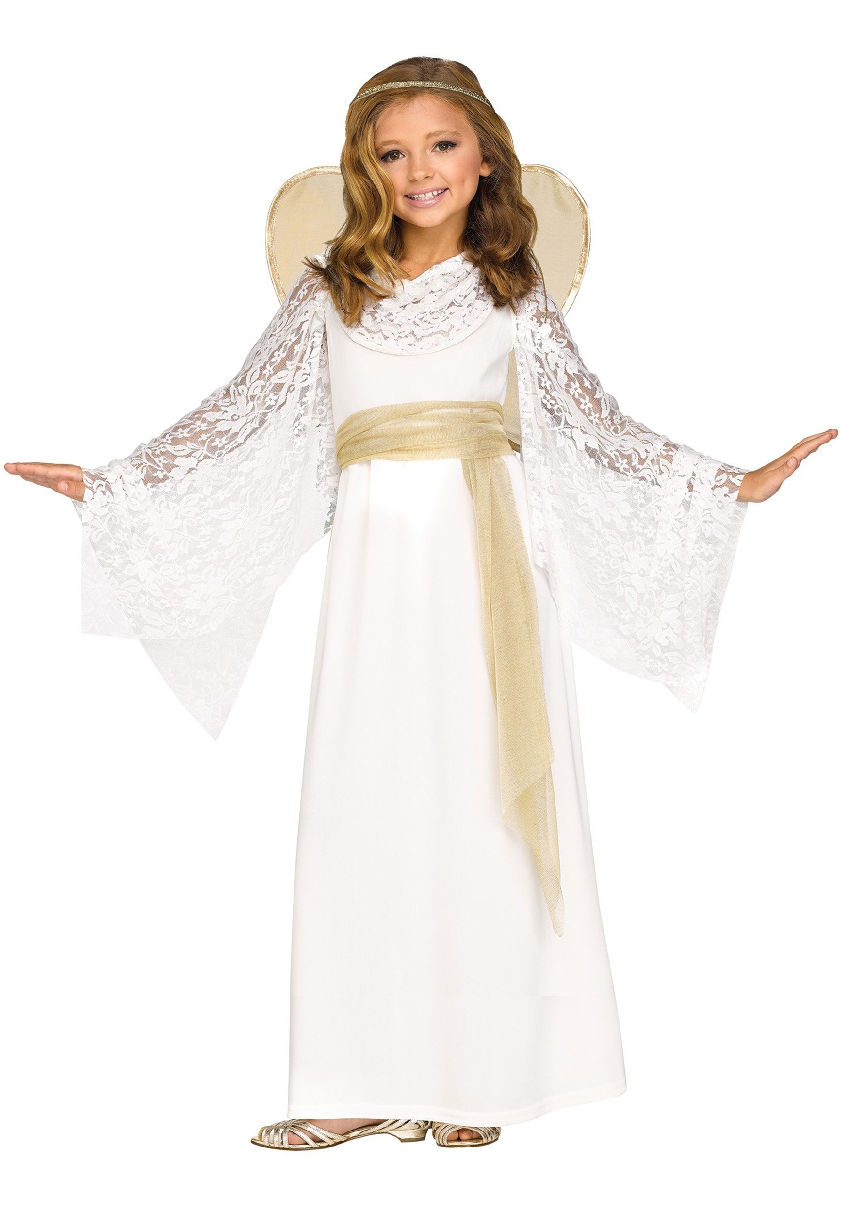 Girls Angelic Maiden Costume