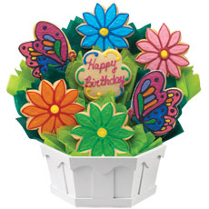 Flower Cookie Bouquet | Birthday Gifts for Her |Cookies by Design