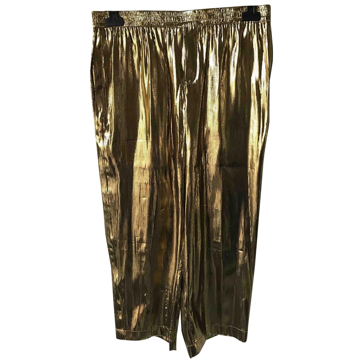 Mes Demoiselles ... \N Gold Silk Trousers for Women 40 FR