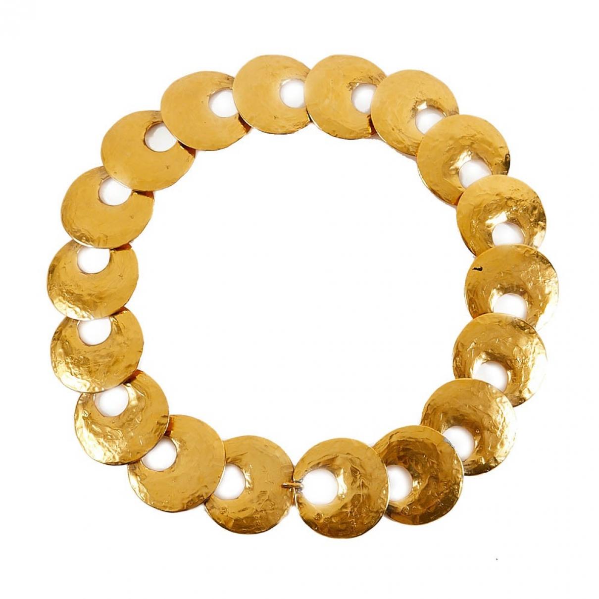 Yves Saint Laurent \N Gold Metal belt for Women 80 cm