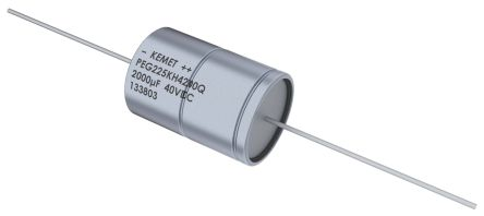 KEMET 470μF Electrolytic Capacitor 63V dc, Through Hole - PEG225MF3470QE1