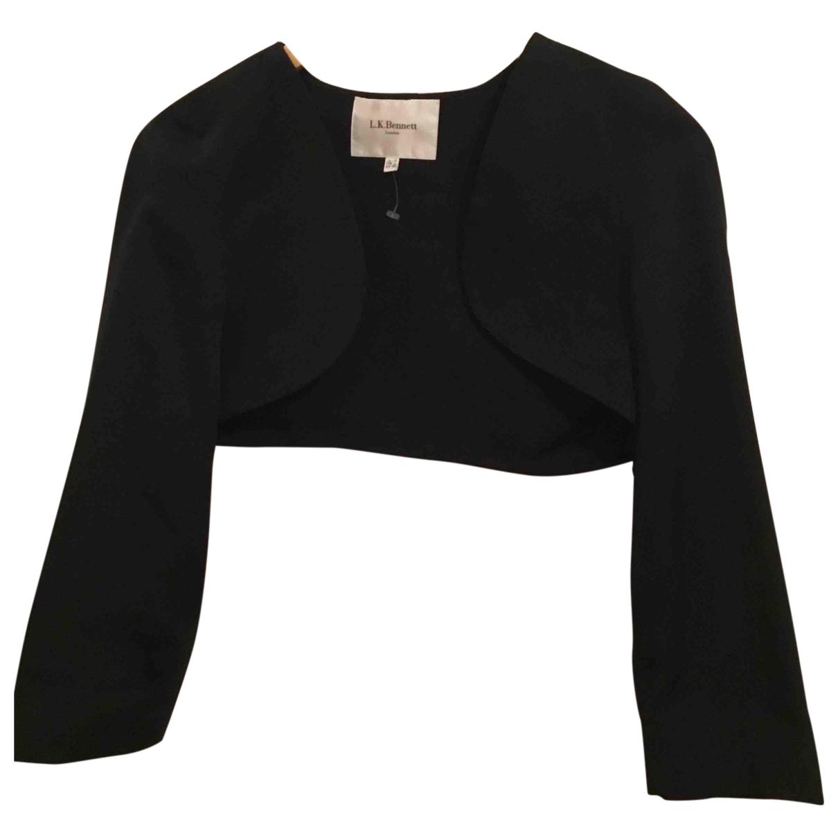 Lk Bennett \N Black Cotton  top for Women 14 UK