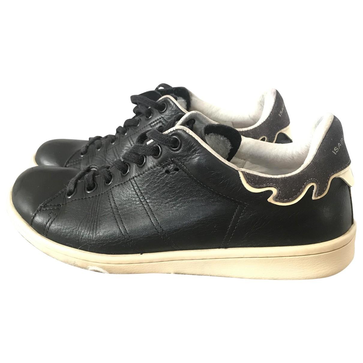 Isabel Marant Bart Black Leather Trainers for Women 37 EU