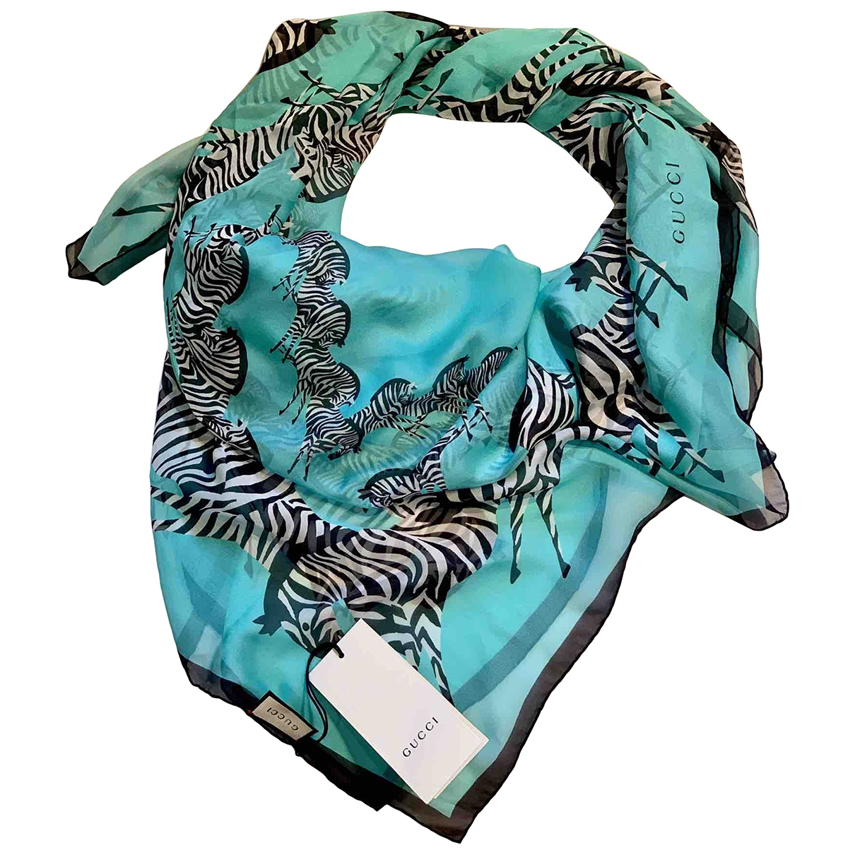 Gucci \N Turquoise Silk scarf for Women \N