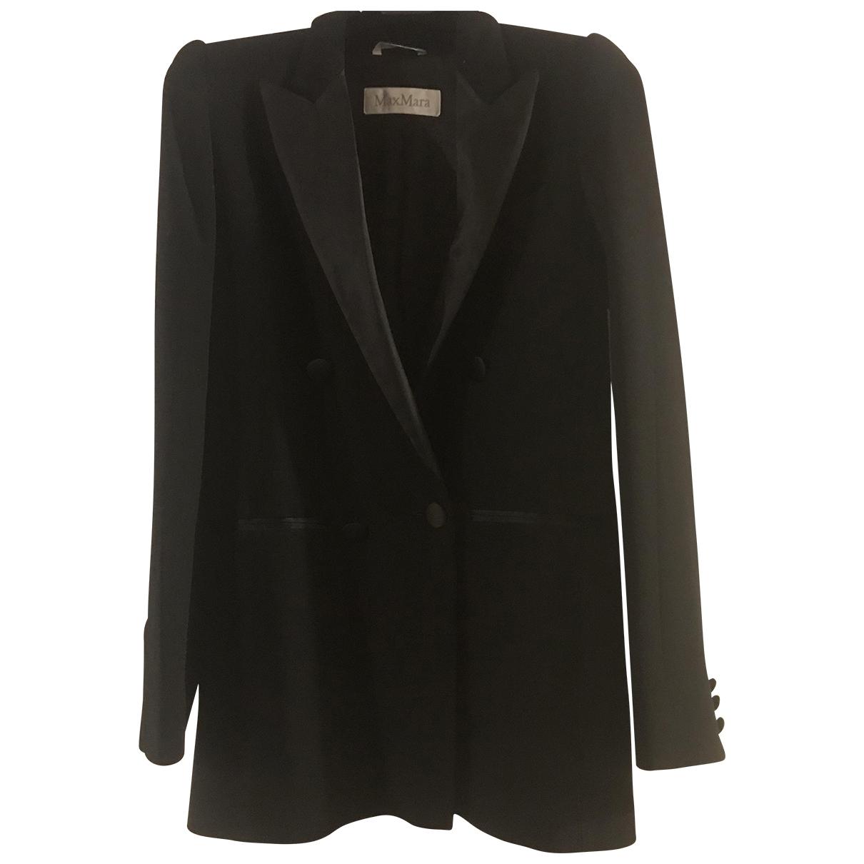 Max Mara \N Black Wool jacket for Women 36 FR
