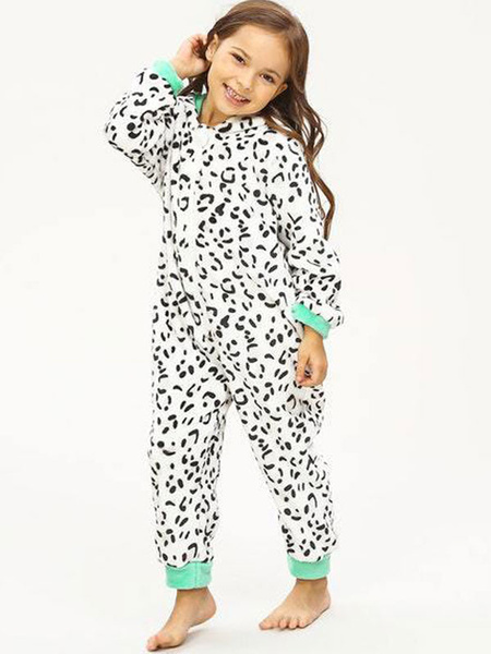 Milanoo Kigurumi Onesie Pajamas Zebra Pattern Kids Flannel Winter Sleepwear Mascot Animal Halloween