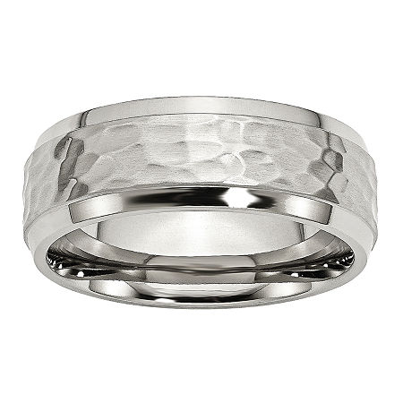 Mens 8Mm Stainless Steel Wedding Band, 13 , No Color Family