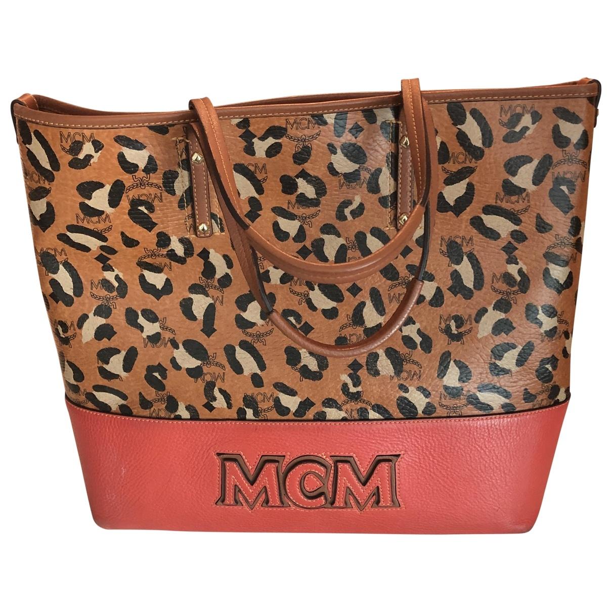 Mcm \N Red Leather handbag for Women \N