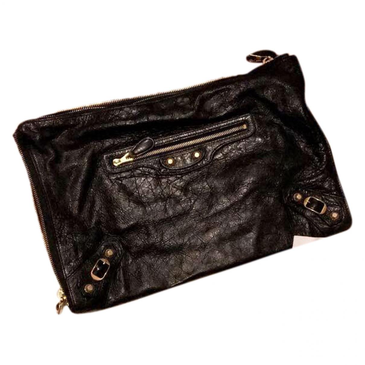 Balenciaga \N Black Leather Clutch bag for Women \N
