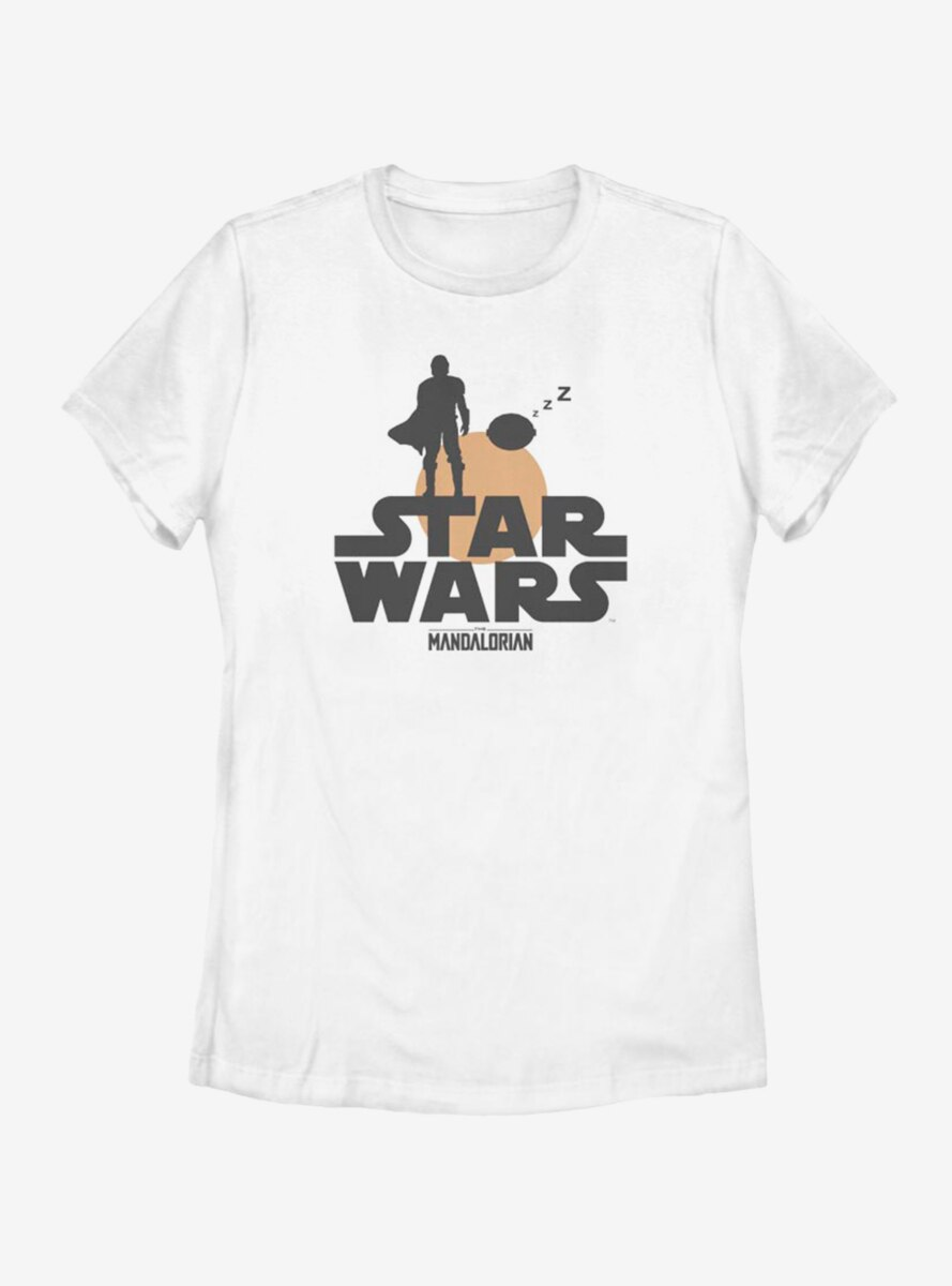 Star Wars The Mandalorian The Child Duo Silhouette Womens T-Shirt