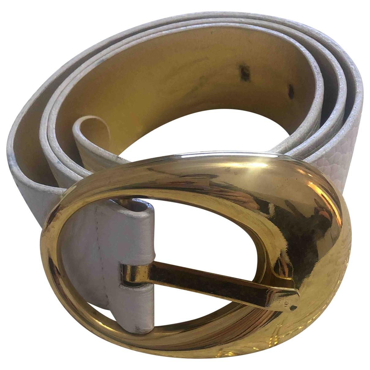 D&g \N White Leather belt for Women 90 cm