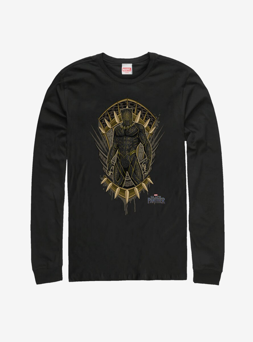 Marvel Black Panther Claw Crest Long Sleeve T-Shirt