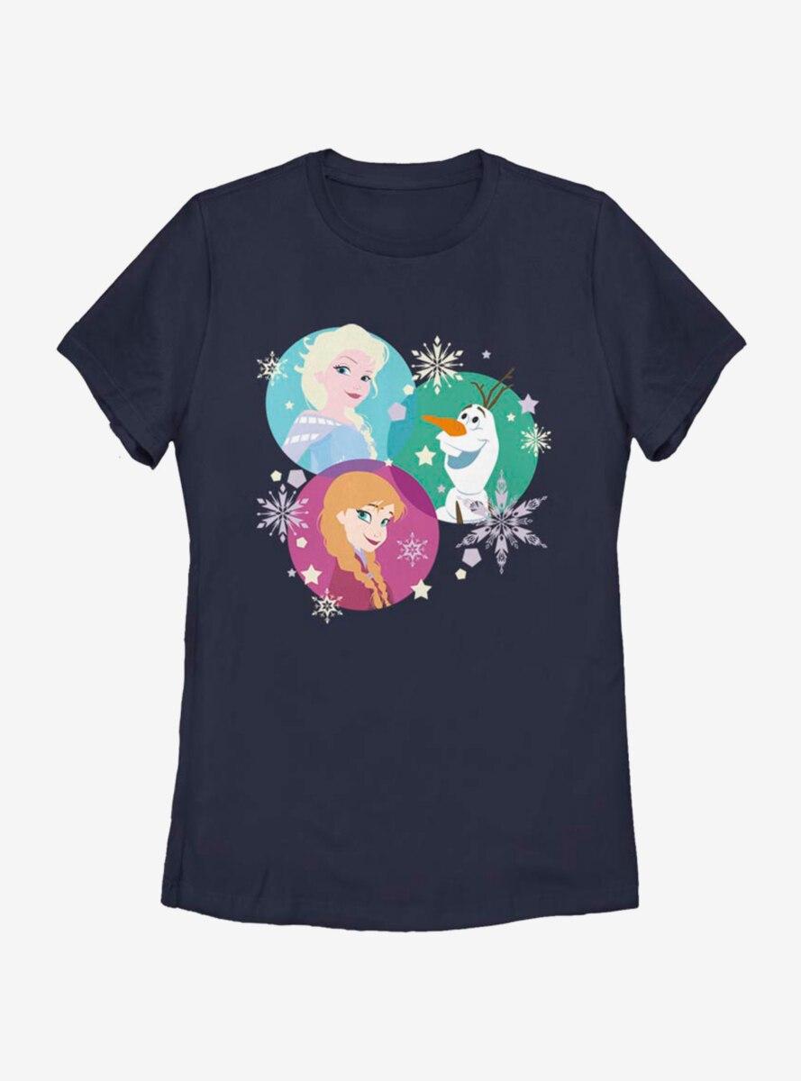 Disney Frozen Tri Sphere Characters Womens T-Shirt