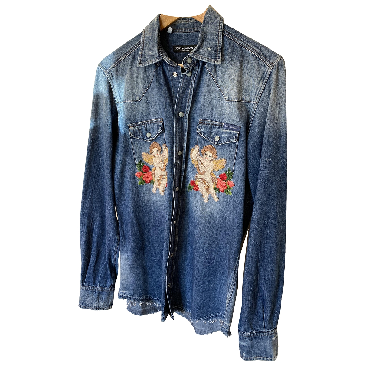 Dolce & Gabbana \N Blue Denim - Jeans Shirts for Men M International