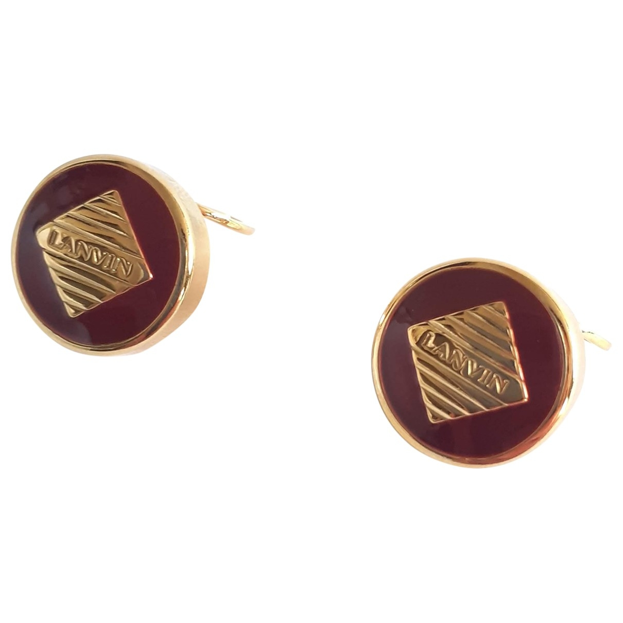 Lanvin \N Burgundy Metal Cufflinks for Men \N
