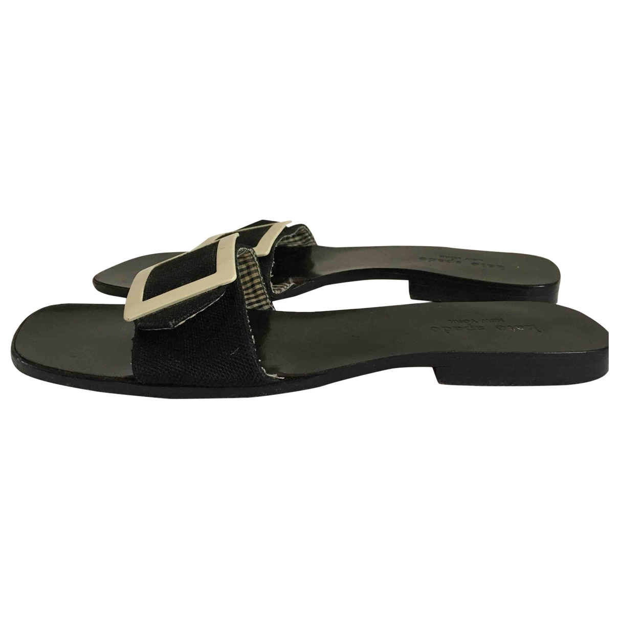 Kate Spade \N Black Cloth Sandals for Women 8 US