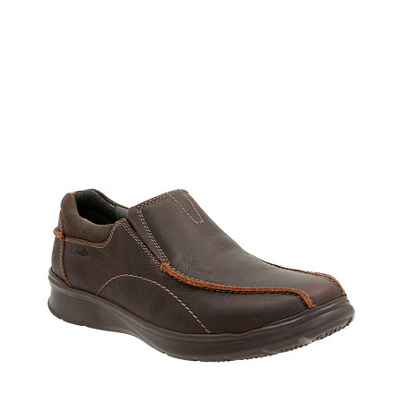 Clarks Cotrell Step Mens Leather Casual Shoes, 10 Medium, Brown