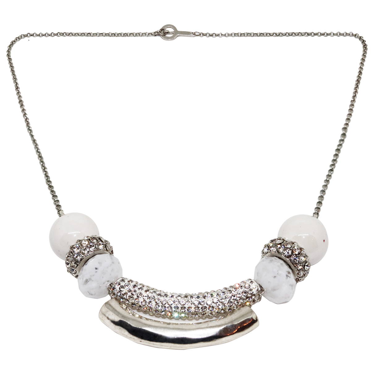 Non Signé / Unsigned N Silver Metal necklace for Women N
