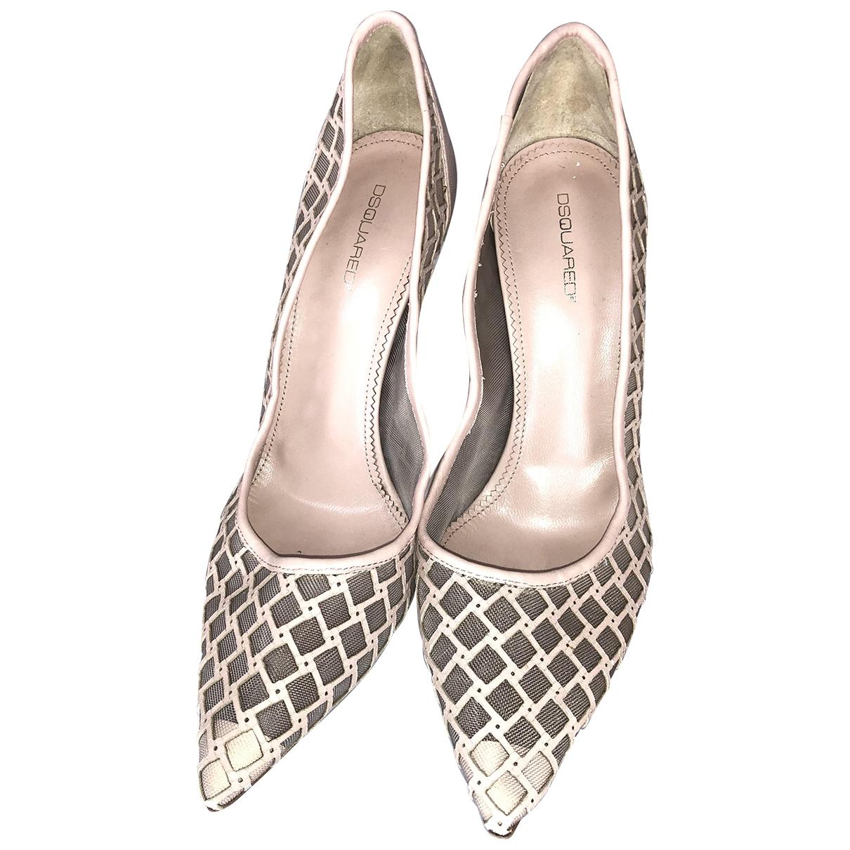 Dsquared2 \N Beige Leather Heels for Women 39 IT