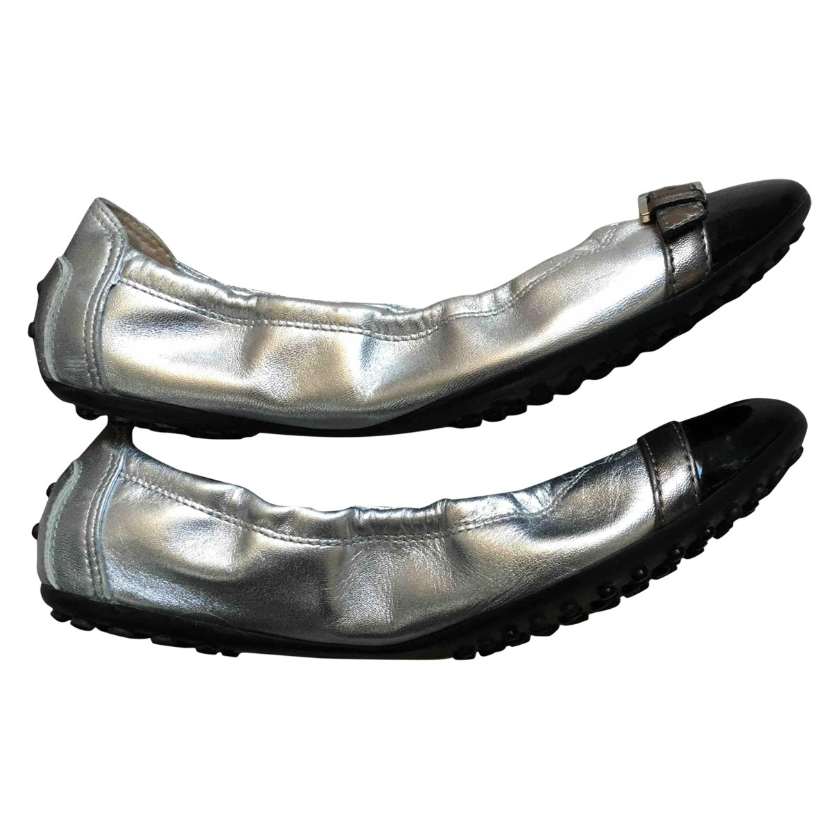 Tod's \N Silver Leather Ballet flats for Women 37 EU