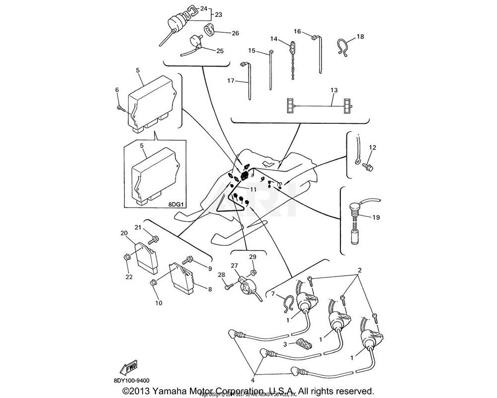 Yamaha OEM 8DG-85540-00-00 C.D.I. UNIT ASSY | VX600ERC