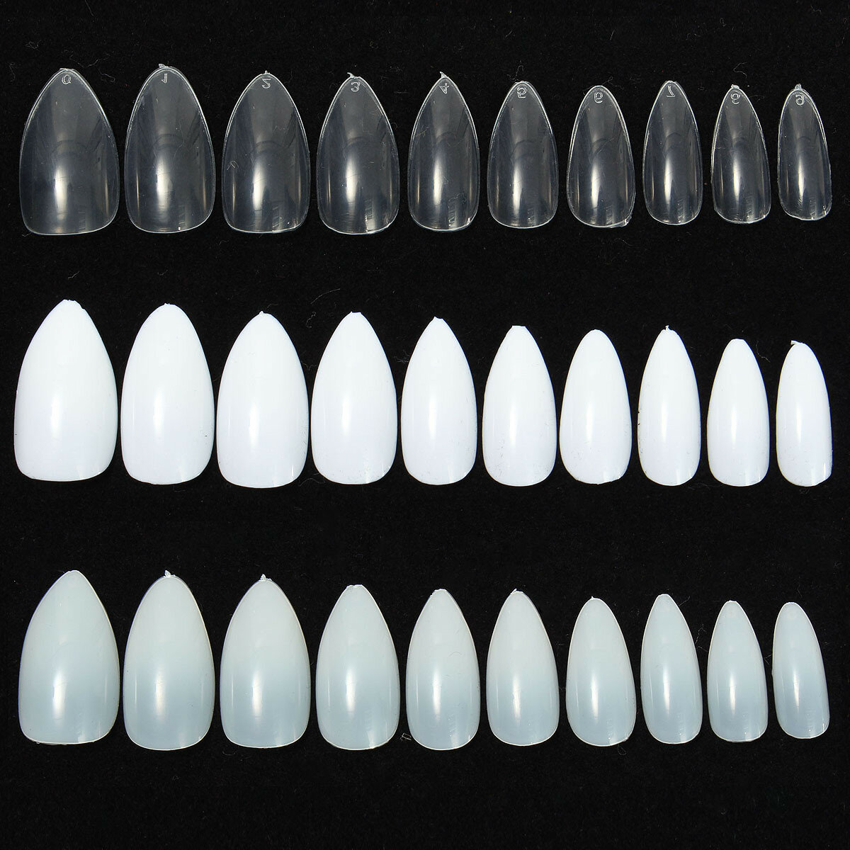 600Pcs Almond Oval Shape Stiletto Pointy False Nail Tips Acrylic Gel Polish